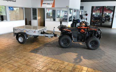 STEMA PKW / QUAD / ATV Anhänger *GEBREMST* 750 Kg GESAMTGEWICHT 100 Km/h Zulassung |   1.199€